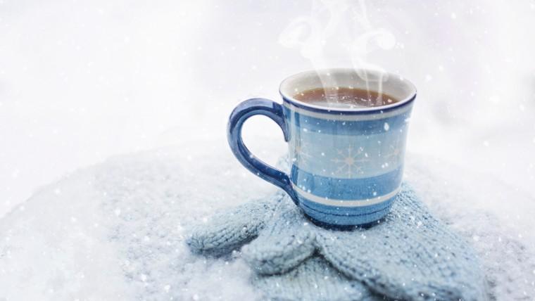 Горячий кофе зимой