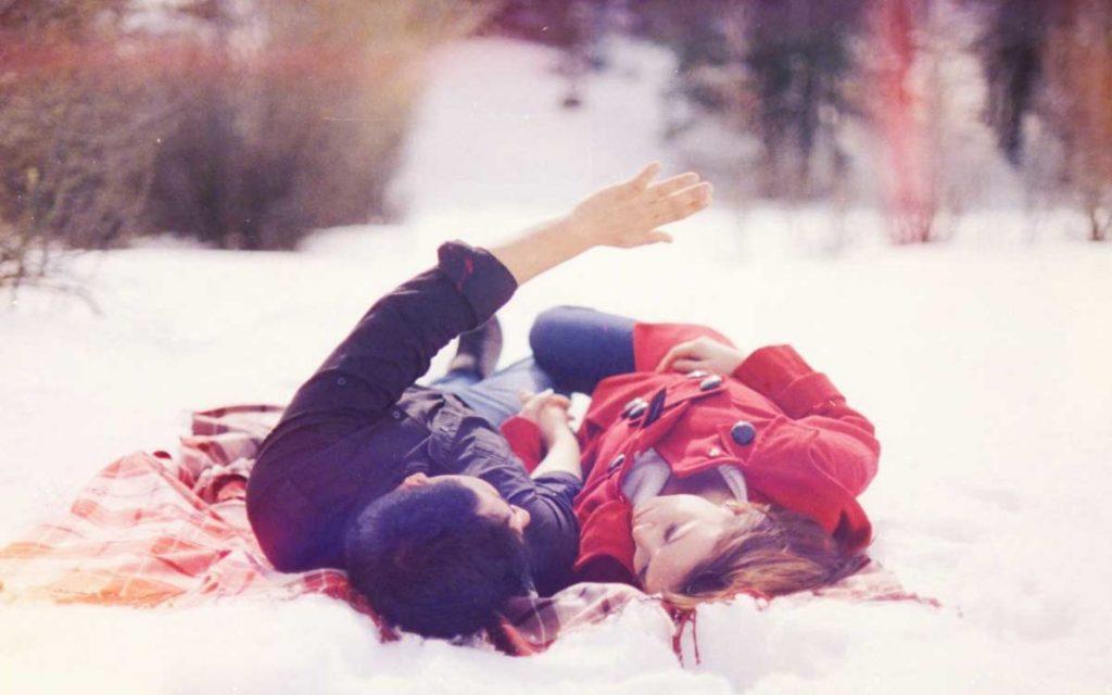 романтическое свидание зимой