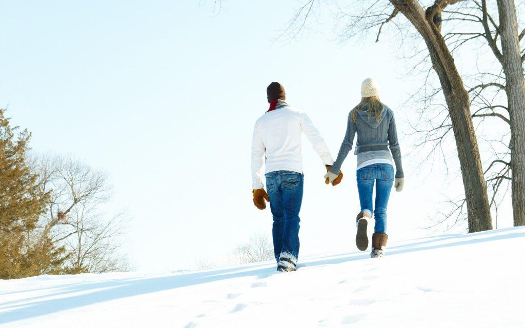 зимняя романтическая прогулка для двоих